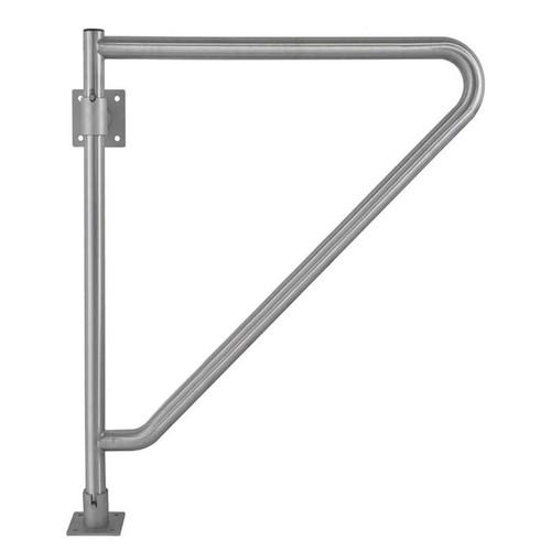 "Bradley Stainless Steel 29.75""L X 33.25""H Swing Away Grab Bar"