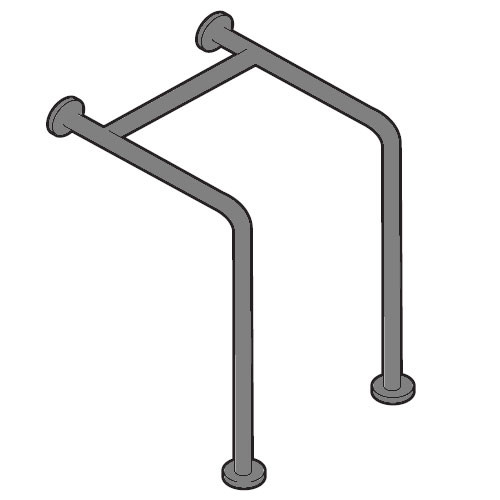 American Accessories Georgia Series Wall to Floor Straddle Grab Bar
