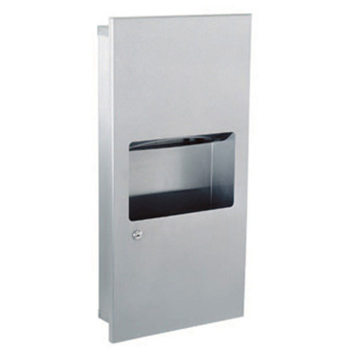 GAMCO Mini Recessed Towel Dispenser and Waste Receptacle TW-8 - Coverall Series