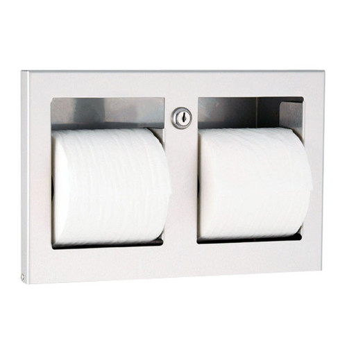 GAMCO Recessed Double Toilet Tissue Dispenser TTD-9 - Coverall Series