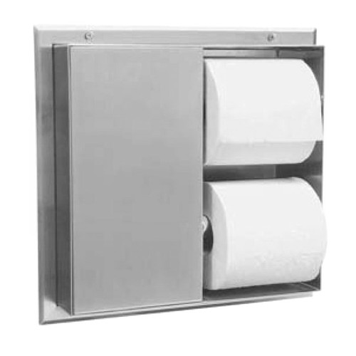 GAMCO Partition Mounted Dual Sided Toilet Tissue Dispenser TTD-7