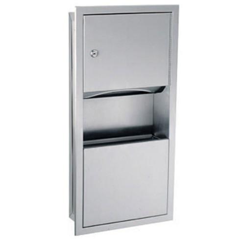 GAMCO Recessed Mini Towel Dispenser and Waste Receptacle TW-3