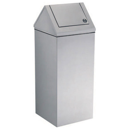 GAMCO Free Standing Waste Receptacle with Swing Top WR-11