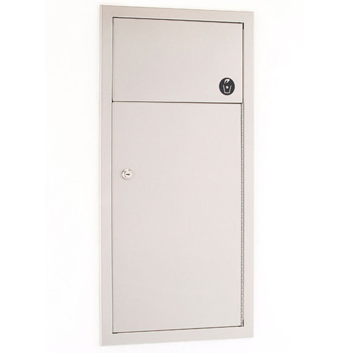 GAMCO Recessed Waste Receptacle with Self Closing Door WR-7