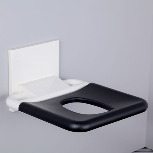 PBA Nylon Wall Mounted Fold Up Shower Seat With Elliptical Hole