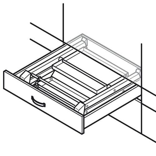 Hafele Stepfix Folding Steel Step Stool 505 04 310