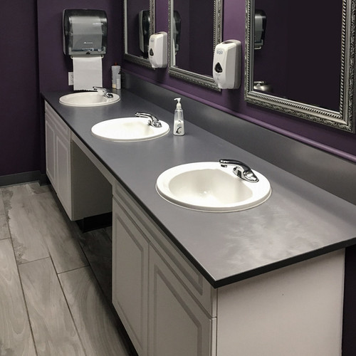 Swell Bathroom Vanity Tops Rugged Solid Plastic Solid Phenolic Beutiful Home Inspiration Semekurdistantinfo