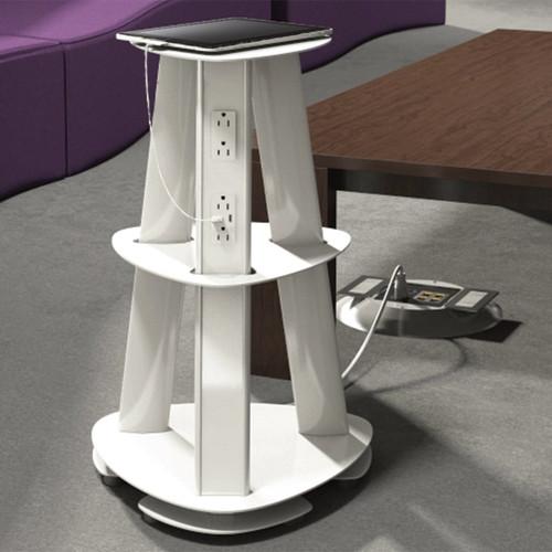 Isle Freestanding Multi-Use Charging Tower - 12 Power, USB Options - ECA Application