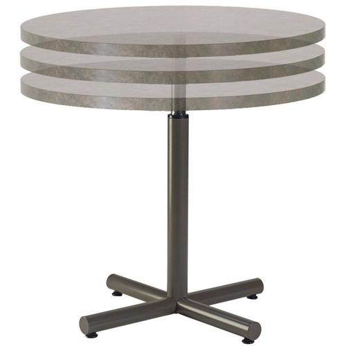 Height Adjustable Metal X-Base Transformer Table Pedestal