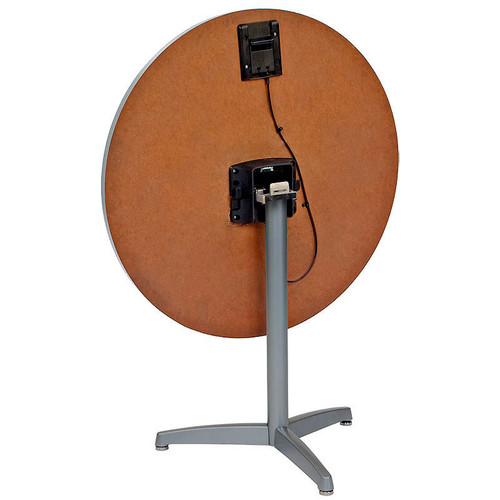 Durable Cast Tripod Base Table Pedestal with Flip Top Bracket