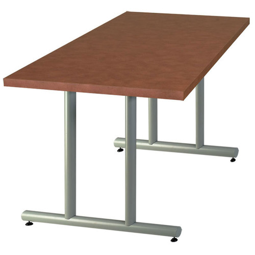 Tubular Double T-Base Metal Table Support (set of 2)