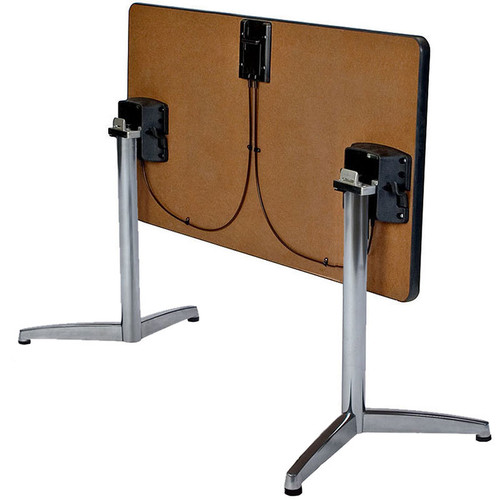 Durable Cast Y-Base Table Support with Flip Top Bracket (set of 2)
