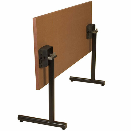 Tubular C-Base Metal Table Support with Flip Top Bracket (set of 2)