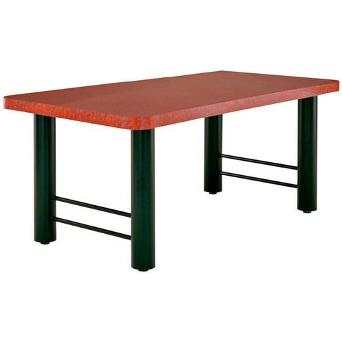 "H-Base Metal Table Support - 4"" Diameter Legs"