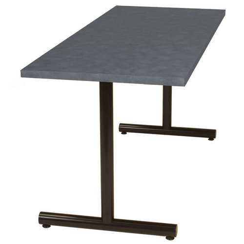 Tubular T-Base Metal Table Support (set of 2)