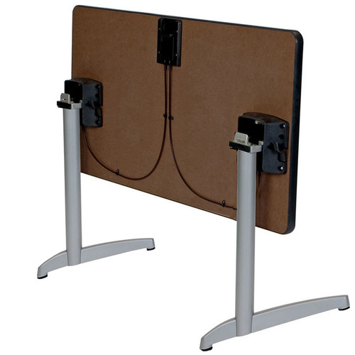 Durable Cast C-Base Table Support with Flip Top Bracket (Set of 2)