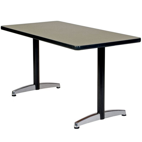 Durable Cast T-Base Metal Table Support (set of 2)