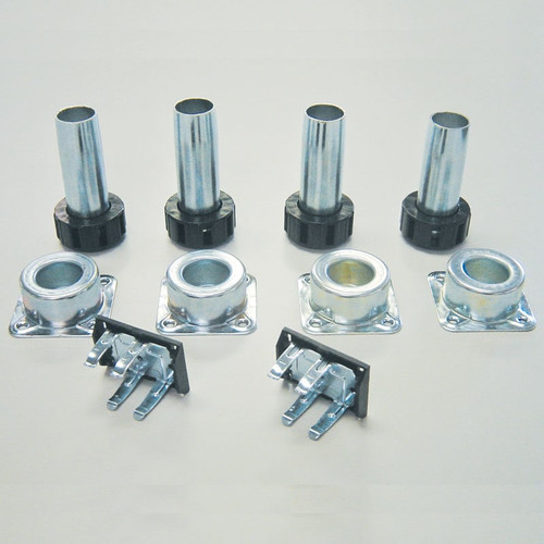 Camar Metal Levelers with Metal Sockets and Screw Mount Clips