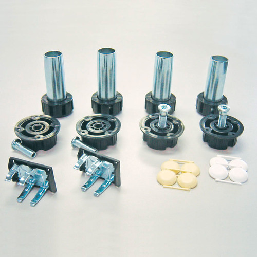 Camar Metal Levelers with Plastic Sockets and Screw Mount Clips
