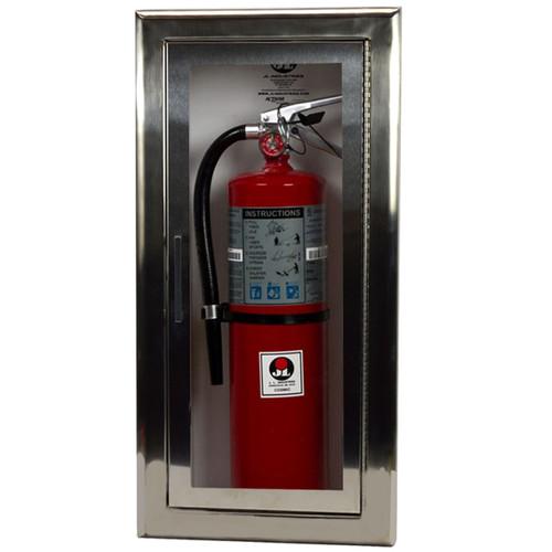 Recessed Stainless Steel Fire Extinguisher Cabinet - Cosmopolitan JL Industries