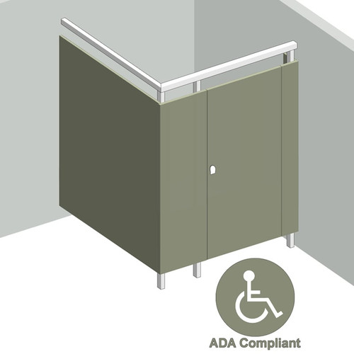 1 Stall ADA In Corner Right Hand - Image 1