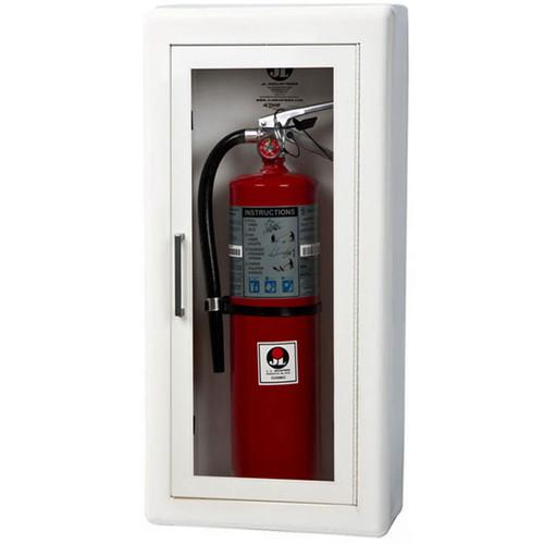 Semi-Recessed Steel Fire Extinguisher Cabinet - Ambassador JL Industries
