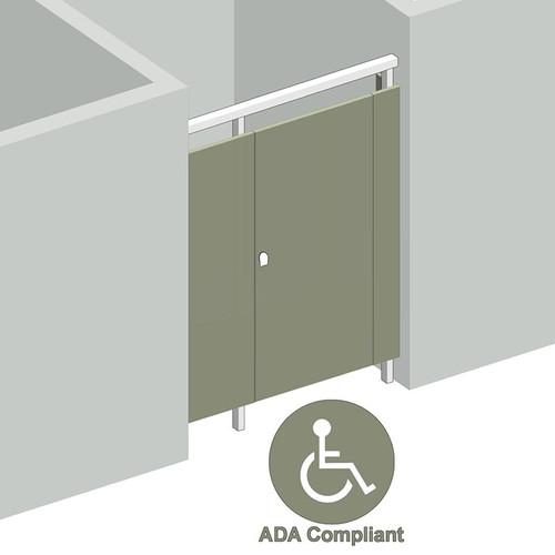 1 Stall ADA Between Walls Right Hand  - Image 1