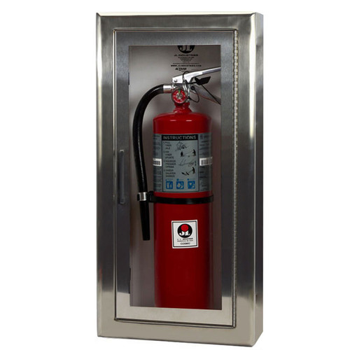 Semi-Recessed Fire Extinguisher Cabinet - Cosmopolitan JL Industries
