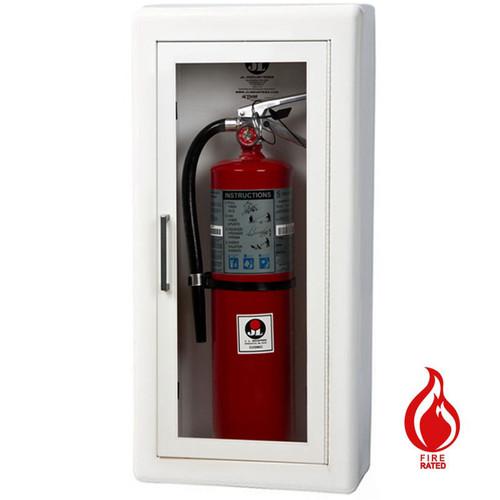 Semi-Recessed Fire Rated Extinguisher Cabinet - Ambassador JL Industries