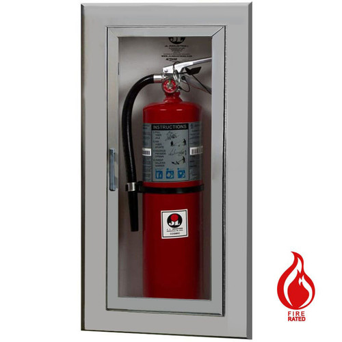 Recessed Aluminum Fire Rated Extinguisher Cabinet - Academy JL Industries
