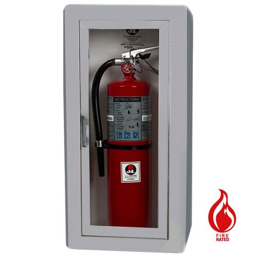 Semi-Recessed Fire Rated Extinguisher Cabinet - Academy JL Industries