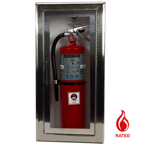 Recessed Stainless Steel Fire Rated Extinguisher Cabinet - Cosmopolitan JL Industries