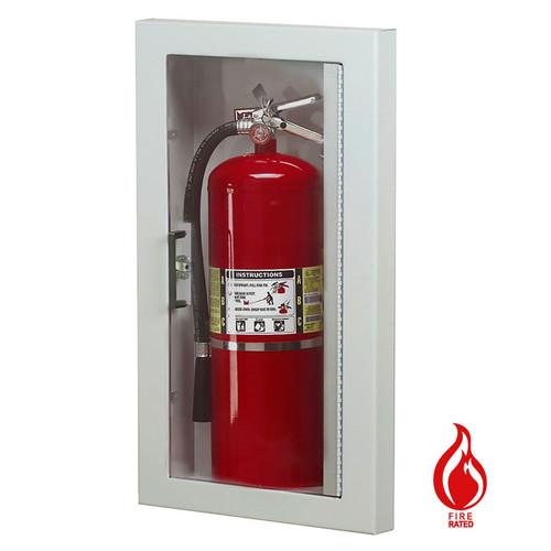 Semi-Recessed Fire Rated Extinguisher Cabinet - Larsen Gemini Series