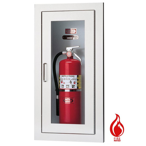 Recessed Fire Rated Extinguisher Cabinet - Larsen Architectural Series