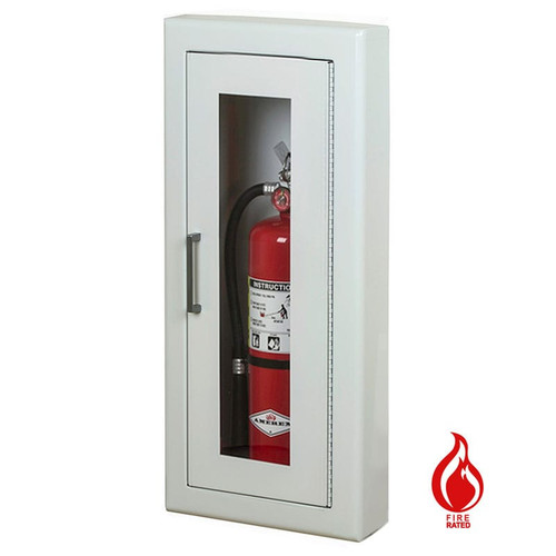 Semi-Recessed Fire Rated Extinguisher Cabinet - Larsen Architectural Series