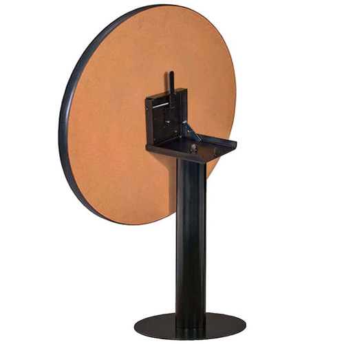 Metal Disc Pedestal Table Base with Flip Top Bracket
