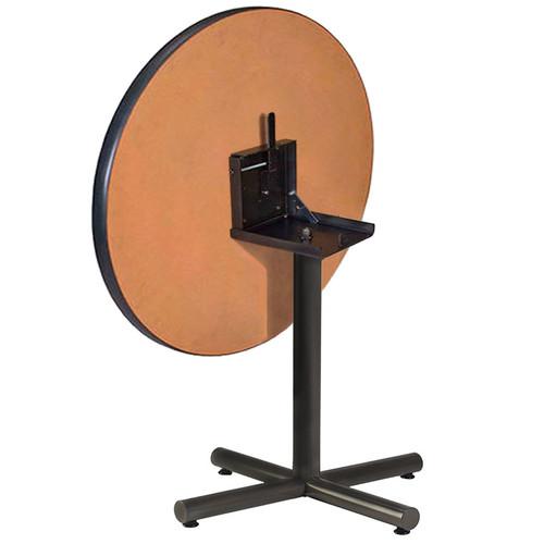 Metal X-Base Table Pedestal with Flip Top Bracket