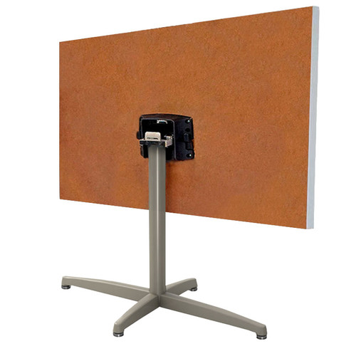 Durable Cast X-Base Rectangular Table Pedestal with Flip Top Bracket