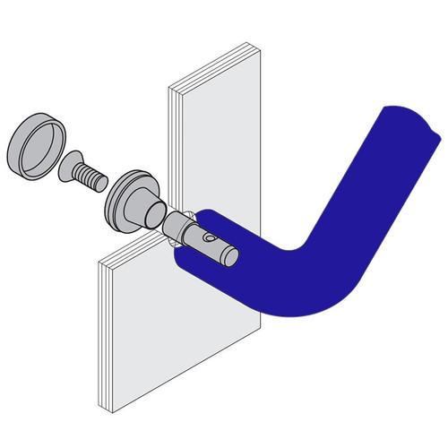 Hewi Door Pull Handle Mounting Hardware for Glass Doors - Default