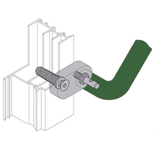 Hewi Offset Door Pull Handle Mounting Hardware for Solid Doors - Default