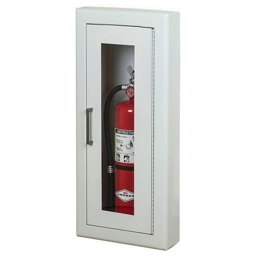 Semi-Recessed Fire Extinguisher Cabinet - Larsen Architectural Series