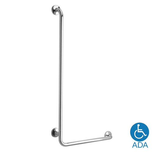 "ASI Stainless Steel 16""W X 32""H L Shaped Grab Bar - 1.25"" Dia"