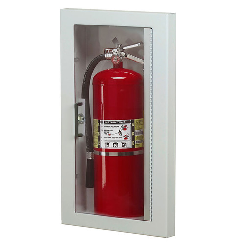 Semi-Recessed Fire Extinguisher Cabinet - Larsen Gemini Series
