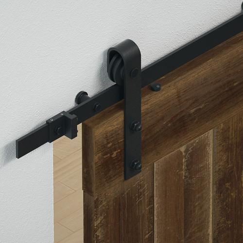 Hafele BD100 Sliding Barn Door Hardware - Flat Track 220 lbs Door Max - Default