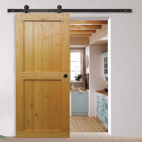 Hafele BD110 Sliding Barn Door Hardware - Flat Track 220 lbs Door Max - Default