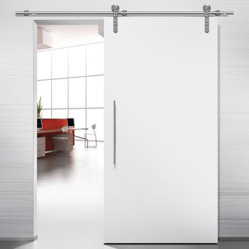 Hafele Project Stainless Steel Sliding Barn Door Hardware - Hollow Tube Track 220 lbs Door Max - Application