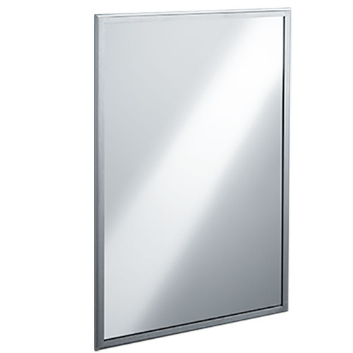 ASI Roval Collection Inter-Lok Stainless Steel Framed Mirror - Tempered Glass