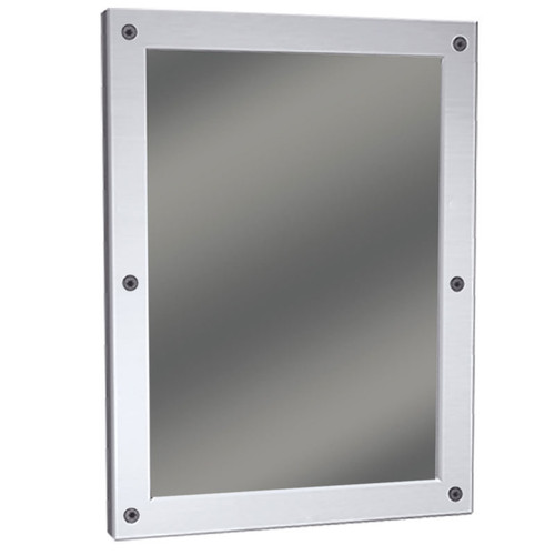 Bradley Stainless Steel Frame Security Mirror - Plexiglass - Front Mounted