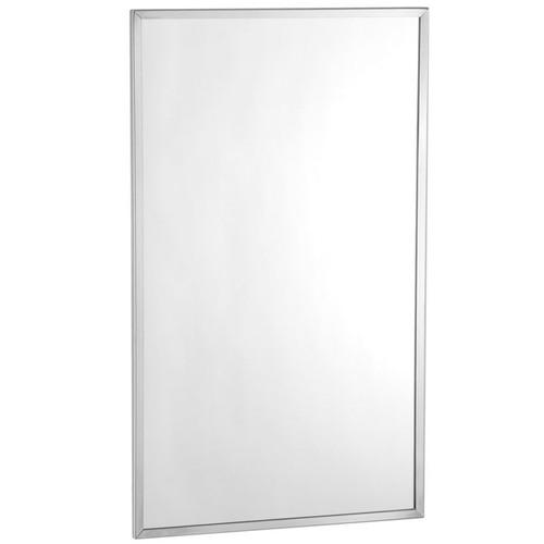 Bobrick Stainless Steel Channel Framed Mirror - Tempered Glass