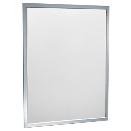 American Accessories Arkansas Angle Frame Mirror - Polished Stainless Steel